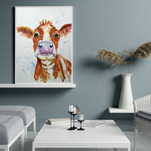 Cattle Drawing Round Full Drill Diamond Painting 30X40CM(Canvas)
