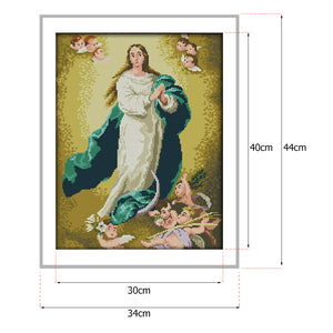 14CT Cross Stitchs Needlework Joy Sunday