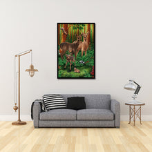 Load image into Gallery viewer, Fawn in Forest Round Full Drill Diamond Painting 30X40CM(Canvas)