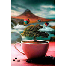Load image into Gallery viewer, Tree on Cup Round Full Drill Diamond Painting 30X40CM(Canvas)