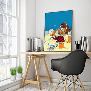 Cartoon Duck Round Full Drill Diamond Painting 30X40CM(Canvas)