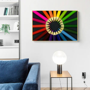 Resin Abstract Round Full Drill Diamond Painting 40X30CM(Canvas)