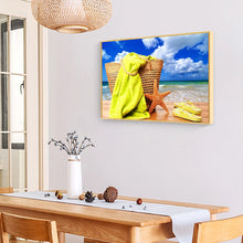 Load image into Gallery viewer, Beach Sea Star Round Full Drill Diamond Painting 30X40CM(Canvas)
