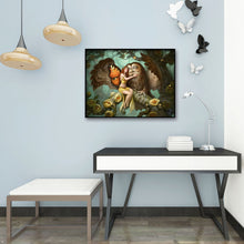 Load image into Gallery viewer, Bird Girl House Round Full Drill Diamond Painting 30X40CM(Canvas)