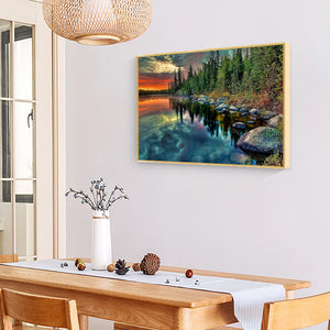 Natural Landscape Round Full Drill Diamond Painting 30X40CM(Canvas)