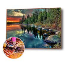 Load image into Gallery viewer, Natural Landscape Round Full Drill Diamond Painting 30X40CM(Canvas)