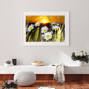 Insect and Flower Room Round Full Drill Diamond Painting 40X30CM(Canvas)