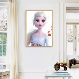 Ice Princess Round Full Drill Diamond Painting 30X40CM(Canvas)