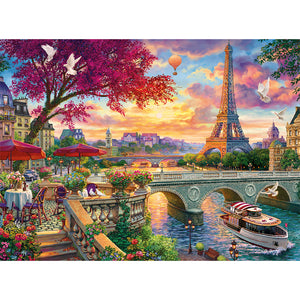 Eiffel Tower Round Full Drill Diamond Painting 30X40CM(Canvas)