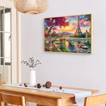 Load image into Gallery viewer, Eiffel Tower Round Full Drill Diamond Painting 30X40CM(Canvas)