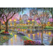 Load image into Gallery viewer, Lighting Bridge Round Full Drill Diamond Painting 30X40CM(Canvas)