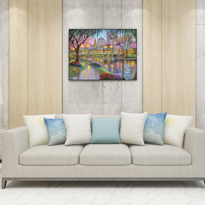 Lighting Bridge Round Full Drill Diamond Painting 30X40CM(Canvas)