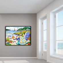 Load image into Gallery viewer, Relaxing Beach Round Full Drill Diamond Painting 30X40CM(Canvas)
