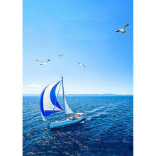Load image into Gallery viewer, Boat Round Full Drill Diamond Painting 30X40CM(Canvas)