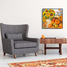 Load image into Gallery viewer, Sunflower Pumpkin Round Full Drill Diamond Painting 30X30CM(Canvas)
