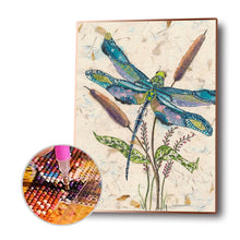 Load image into Gallery viewer, Dragonfly on Plant Round Full Drill Diamond Painting 30X40CM(Canvas)