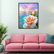 Load image into Gallery viewer, Room Flowers on Sea Round Full Drill Diamond Painting 30X40CM(Canvas)