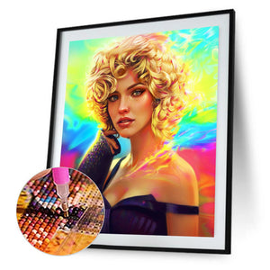 Beauty Round Full Drill Diamond Painting 30X40CM(Canvas)