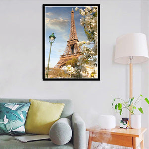 Tower Round Full Drill Diamond Painting 30X40CM(Canvas)