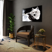 Load image into Gallery viewer, Wolf Black Bird Canvas Drawing Round Full Drill Diamond Painting 30X40CM(Canvas)