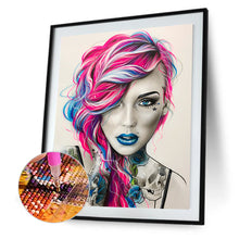 Load image into Gallery viewer, Woman Round Full Drill Diamond Painting 40X50CM(Canvas)