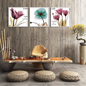 Colorful Oil Flowers Round Full Drill Diamond Painting 35X45CM(Canvas)
