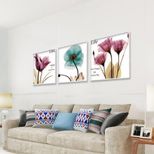 Load image into Gallery viewer, Colorful Oil Flowers Round Full Drill Diamond Painting 35X45CM(Canvas)