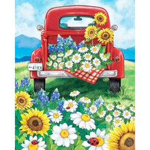 Load image into Gallery viewer, Car and Flower Drawing Round Full Drill Diamond Painting 30X40CM(Canvas)
