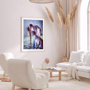 Couples Drawing Round Full Drill Diamond Painting 30X40CM(Canvas)
