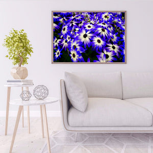 Chrysanthemum Drawing Round Full Drill Diamond Painting 40X30CM(Canvas)