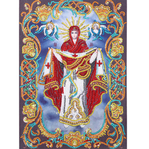Religion Character Irregular Special Part Drill Diamond Painting 30X40CM(Canvas)