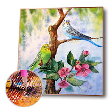 Load image into Gallery viewer, Spring Birds Round Full Drill Diamond Painting 30X30CM(Canvas)