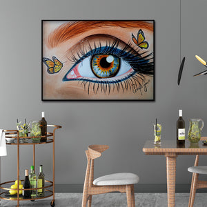 Eye Butterfly Bead Round Full Drill Diamond Painting 30X40CM(Canvas)