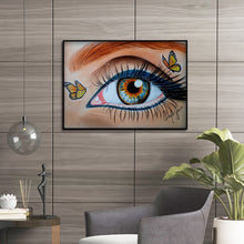 Load image into Gallery viewer, Eye Butterfly Bead Round Full Drill Diamond Painting 30X40CM(Canvas)