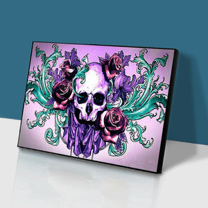 Skull Flower Round Full Drill Diamond Painting 30X40CM(Canvas)