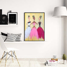 Load image into Gallery viewer, Three Girls Round Full Drill Diamond Painting 30X40CM(Canvas)