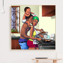 Load image into Gallery viewer, Happiness Family Round Full Drill Diamond Painting 30X30CM(Canvas)