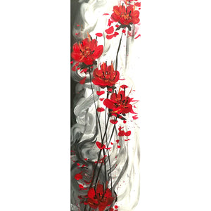 Warm Flowers Round Full Drill Diamond Painting 30X80CM(Canvas)