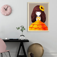 Load image into Gallery viewer, Cartoon Girl Round Full Drill Diamond Painting 30X40CM(Canvas)