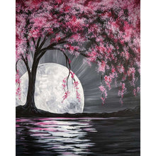 Load image into Gallery viewer, Cherry Blossoms Round Full Drill Diamond Painting 30X40CM(Canvas)