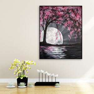 Cherry Blossoms Round Full Drill Diamond Painting 30X40CM(Canvas)