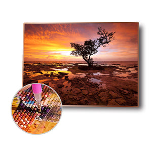 Dead Wood Round Full Drill Diamond Painting 40X30CM(Canvas)