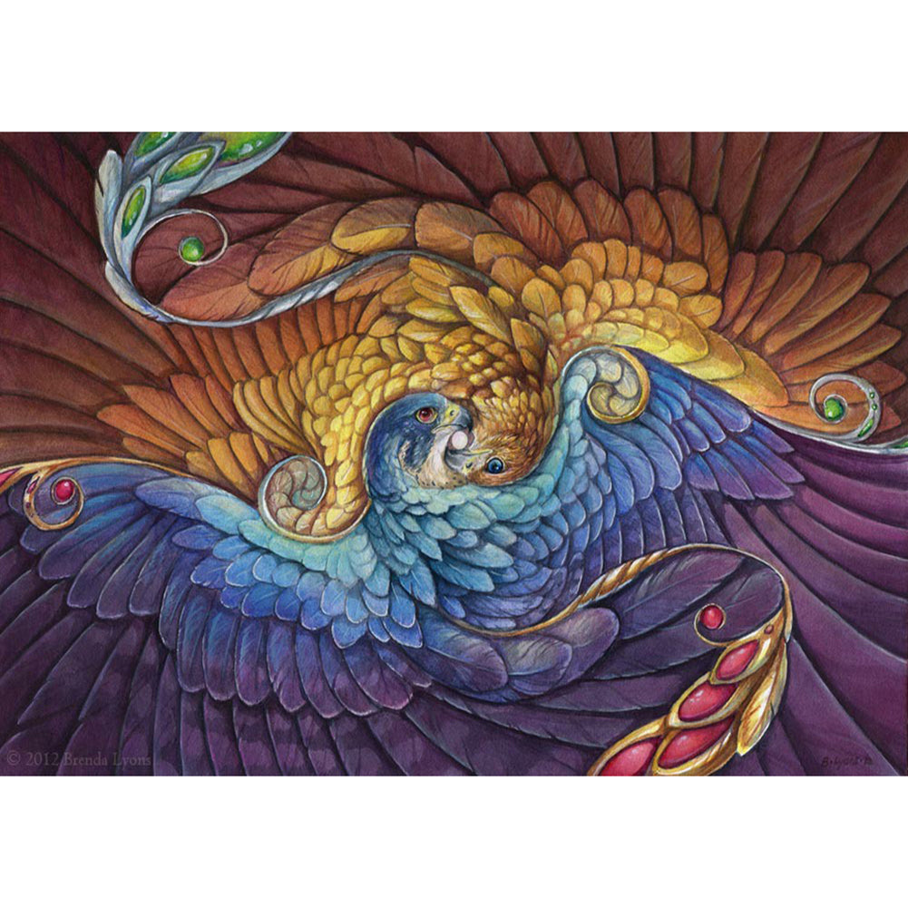 Spiral Peacock Round Full Drill Diamond Painting 40X30CM(Canvas)