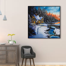 Load image into Gallery viewer, Snow House Round Full Drill Diamond Painting 30X30CM(Canvas)