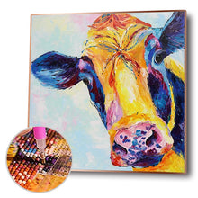Load image into Gallery viewer, Cow Round Full Drill Diamond Painting 30X30CM(Canvas)