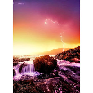 Grand Thunder Round Full Drill Diamond Painting 30X40CM(Canvas)