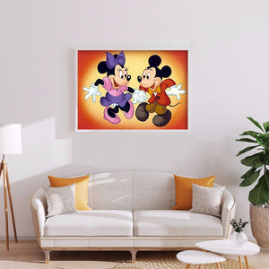 Mouse Partner Round Full Drill Diamond Painting 40X30CM(Canvas)