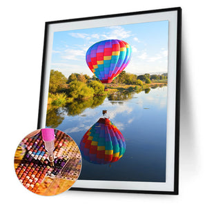 Balloon Landscape Round Full Drill Diamond Painting 30X40CM(Canvas)