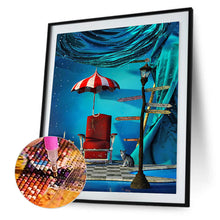 Load image into Gallery viewer, Umbrella House Sofa Round Full Drill Diamond Painting 30X40CM(Canvas)
