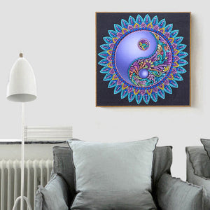 Mandala Special Part Drill Diamond Painting 30X30CM(Canvas)
